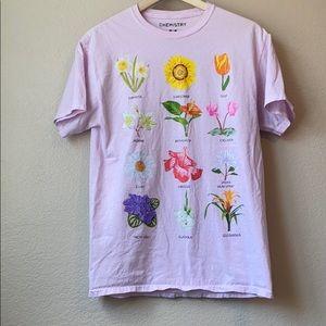Chemistry Plant Flower Pink Graphic Tee Medium